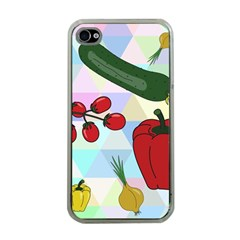 Vegetables Cucumber Tomato Apple Iphone 4 Case (clear)