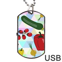 Vegetables Cucumber Tomato Dog Tag Usb Flash (two Sides)