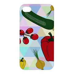 Vegetables Cucumber Tomato Apple Iphone 4/4s Hardshell Case