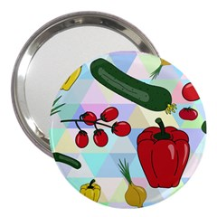 Vegetables Cucumber Tomato 3  Handbag Mirrors