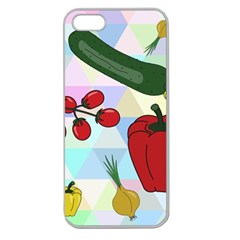 Vegetables Cucumber Tomato Apple Seamless iPhone 5 Case (Clear)