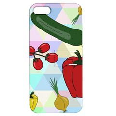 Vegetables Cucumber Tomato Apple Iphone 5 Hardshell Case With Stand