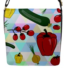 Vegetables Cucumber Tomato Flap Messenger Bag (S)