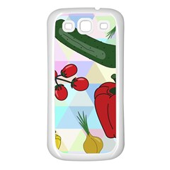 Vegetables Cucumber Tomato Samsung Galaxy S3 Back Case (white)