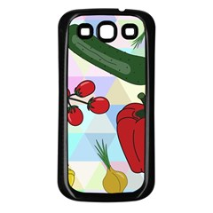 Vegetables Cucumber Tomato Samsung Galaxy S3 Back Case (black)