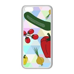 Vegetables Cucumber Tomato Apple Iphone 5c Seamless Case (white)