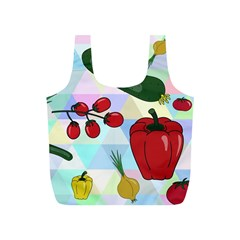 Vegetables Cucumber Tomato Full Print Recycle Bags (S)
