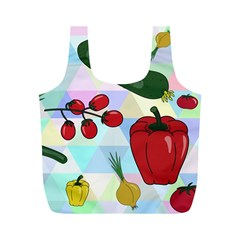 Vegetables Cucumber Tomato Full Print Recycle Bags (M)