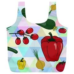Vegetables Cucumber Tomato Full Print Recycle Bags (l)