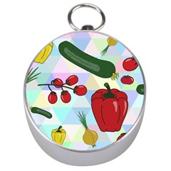 Vegetables Cucumber Tomato Silver Compasses