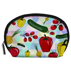 Vegetables Cucumber Tomato Accessory Pouches (large)