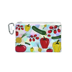 Vegetables Cucumber Tomato Canvas Cosmetic Bag (S)