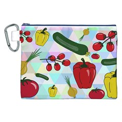 Vegetables Cucumber Tomato Canvas Cosmetic Bag (xxl)