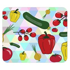 Vegetables Cucumber Tomato Double Sided Flano Blanket (Small)