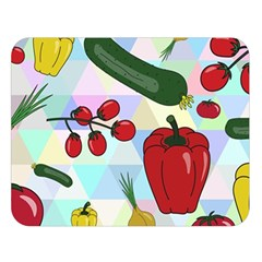 Vegetables Cucumber Tomato Double Sided Flano Blanket (Large)