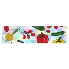 Vegetables Cucumber Tomato Satin Scarf (oblong)