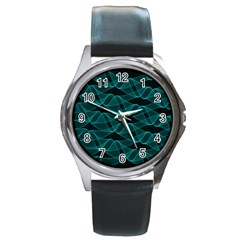 Pattern Vector Design Round Metal Watch