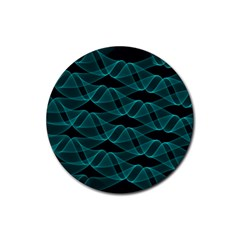 Pattern Vector Design Rubber Round Coaster (4 Pack)