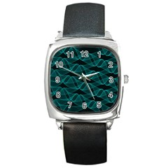 Pattern Vector Design Square Metal Watch