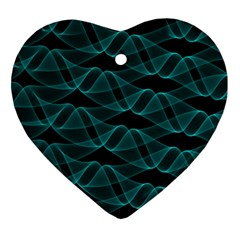 Pattern Vector Design Heart Ornament (Two Sides)