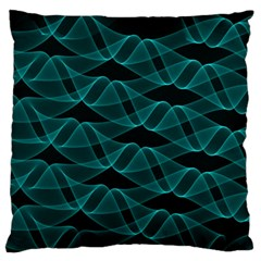 Pattern Vector Design Large Flano Cushion Case (one Side)