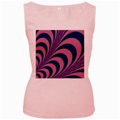 Fractals Vector Background Women s Pink Tank Top
