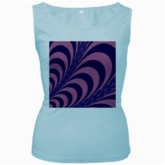 Fractals Vector Background Women s Baby Blue Tank Top