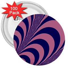 Fractals Vector Background 3  Buttons (100 Pack)