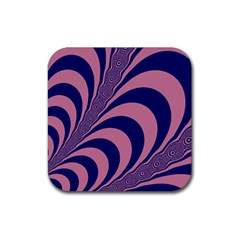 Fractals Vector Background Rubber Square Coaster (4 Pack)