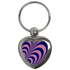 Fractals Vector Background Key Chains (Heart)