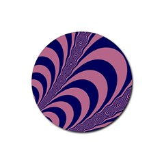 Fractals Vector Background Rubber Round Coaster (4 Pack)