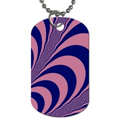 Fractals Vector Background Dog Tag (two Sides)