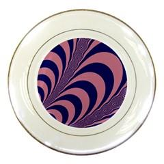 Fractals Vector Background Porcelain Plates
