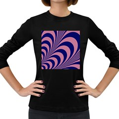 Fractals Vector Background Women s Long Sleeve Dark T Shirts