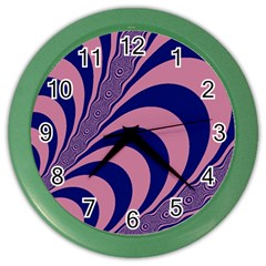 Fractals Vector Background Color Wall Clocks
