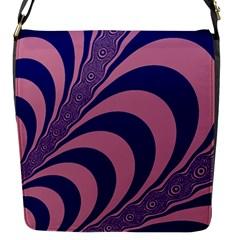 Fractals Vector Background Flap Messenger Bag (s)