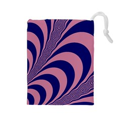 Fractals Vector Background Drawstring Pouches (Large)