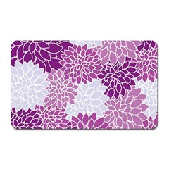 Floral Wallpaper Flowers Dahlia Magnet (Rectangular)