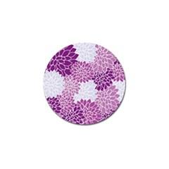 Floral Wallpaper Flowers Dahlia Golf Ball Marker (10 Pack)
