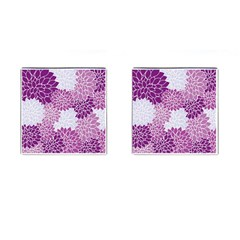 Floral Wallpaper Flowers Dahlia Cufflinks (square)