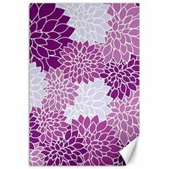 Floral Wallpaper Flowers Dahlia Canvas 20  x 30