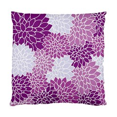 Floral Wallpaper Flowers Dahlia Standard Cushion Case (Two Sides)