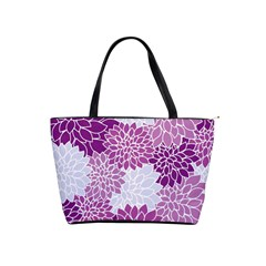 Floral Wallpaper Flowers Dahlia Shoulder Handbags