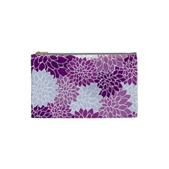 Floral Wallpaper Flowers Dahlia Cosmetic Bag (Small)