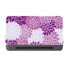 Floral Wallpaper Flowers Dahlia Memory Card Reader With Cf