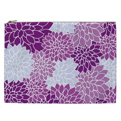 Floral Wallpaper Flowers Dahlia Cosmetic Bag (XXL)