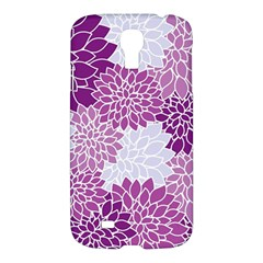 Floral Wallpaper Flowers Dahlia Samsung Galaxy S4 I9500/i9505 Hardshell Case