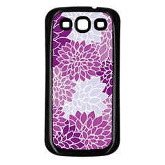 Floral Wallpaper Flowers Dahlia Samsung Galaxy S3 Back Case (Black)