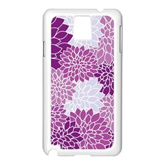 Floral Wallpaper Flowers Dahlia Samsung Galaxy Note 3 N9005 Case (White)
