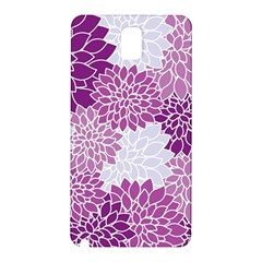 Floral Wallpaper Flowers Dahlia Samsung Galaxy Note 3 N9005 Hardshell Back Case